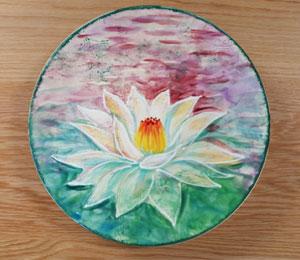 Las Vegas Lotus Flower Plate