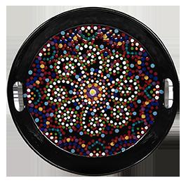 Las Vegas Mosaic Mandala Tray